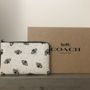 Coach Bee Print Wristlet NWT